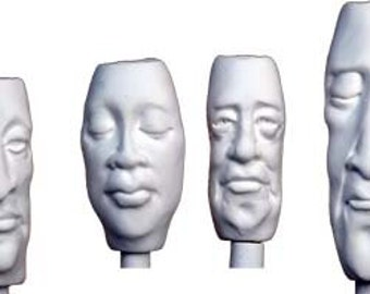 Moldb - Four Face Bead Molds, Plus 7 Texture Designs by Maureen Carlson