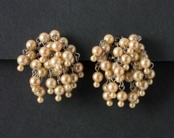 Vintage Pearl  Earrings  Drippy