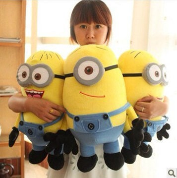 "Despicable Me 2 minions plush 50cm / 19"" -3pcs"
