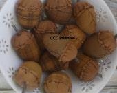 Primitive Acorn Bowl Filler - Primitive Fall Decor - Autumn Bowl Filler - Fall Home Decor - Fall Acorn Decoration - Homespun Acorn