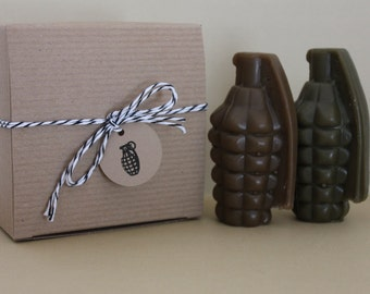 Grenade Soap Gift Box Set - Twilight Woods for Men Scented - Gift for him - Father's Day - Novelty Soap
