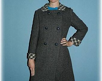 "1960's Vintage gray wool ""Mad Men"" style coat"