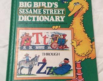 REDUCED 1980/81 Big Bird's Sesame Street Dictionary Volume 8 Tt through Zz