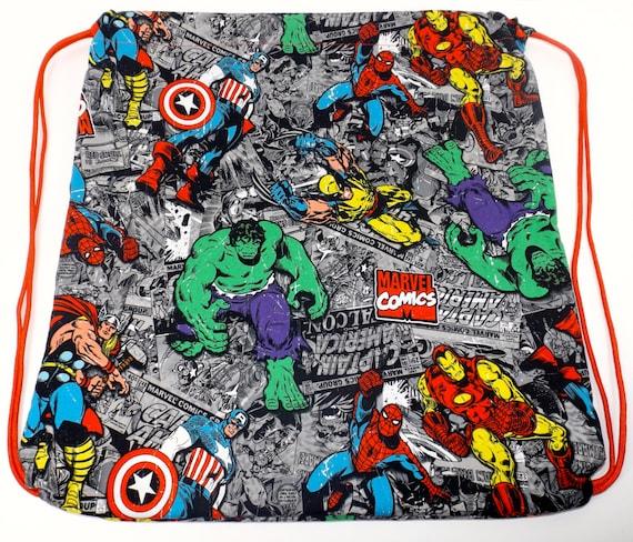 Superhero Drawstring Backpack Marvel Avengers Captain