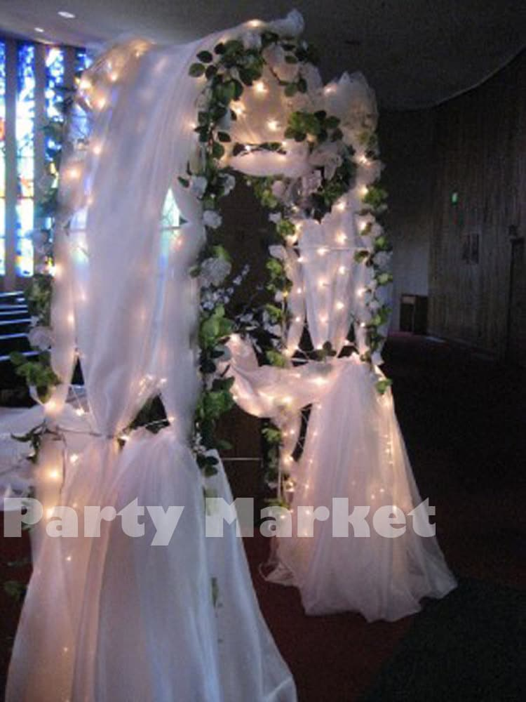 NEW 90 White Metal Arch Wedding Party Bridal Prom