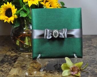 Couture, Emerald Dupioni Silk, Boxed Wedding & Event Invitation