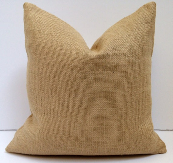 Decorative Burlap Pillow Covers : Decorative Burlap Pillow Cover Accent Pillow by OurLittleOlive