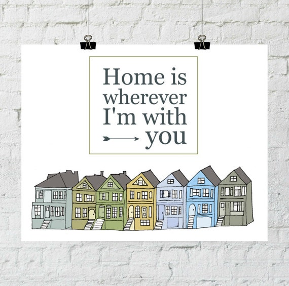 Home Is Wherever I'm With You. 8x10 Typographic, Home Decor Print. Instant Digital Download. Printable Wall Art - ADOPTION FUNDRAISER