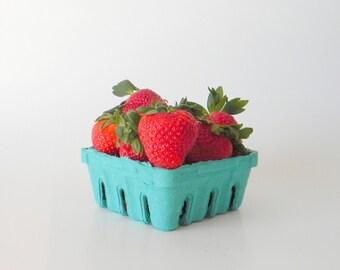 100 qty. 1/2 Pint Berry Baskets, Biodegradable Paper Pulp Basket, Wedding Favor Basket, Farm Theme Party Favor, Spring Favor Basket