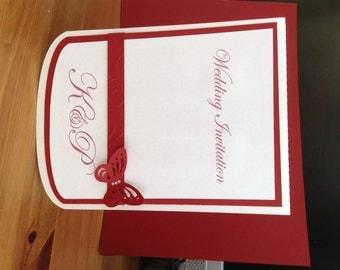 Wedding Stationery Envelope Card, Invitation. Wedding Pocket Invitation