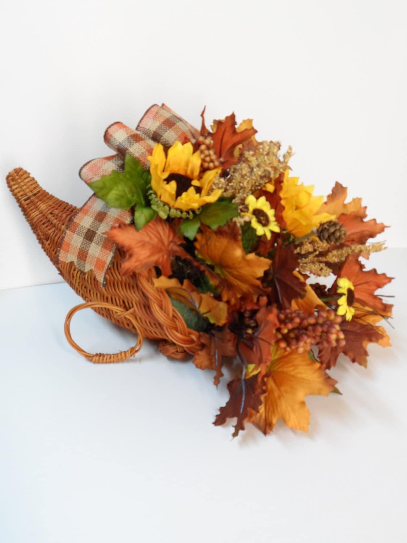 Cornucopia Basket Horn Of Plenty Thanksgiving Decor Fall