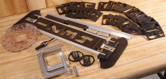 Items similar to new signmaking jig sign art craft pro for Router alphabet templates