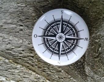 Compass navigation button Pin Pins sail