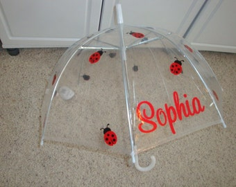 "32"" Kids personalized Lady Bug Umbrella"