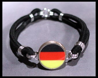 GERMAN FLAG Germany Schwarz-Rot-Gold Dime Stretch Bracelet - One size fits most - Made In USA