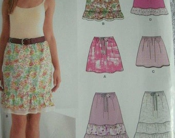 New Look by Simplicity 2011 Sewing pattern #6031: Misses' Skirts size A (8-10-12-14-16-18)