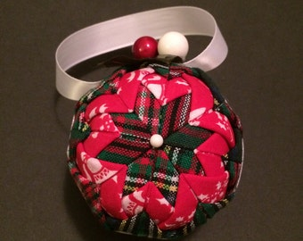 Handmade quilted Christmas ornaments