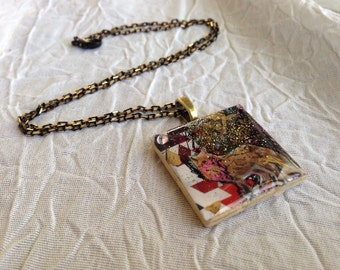Wolf Collage Necklace