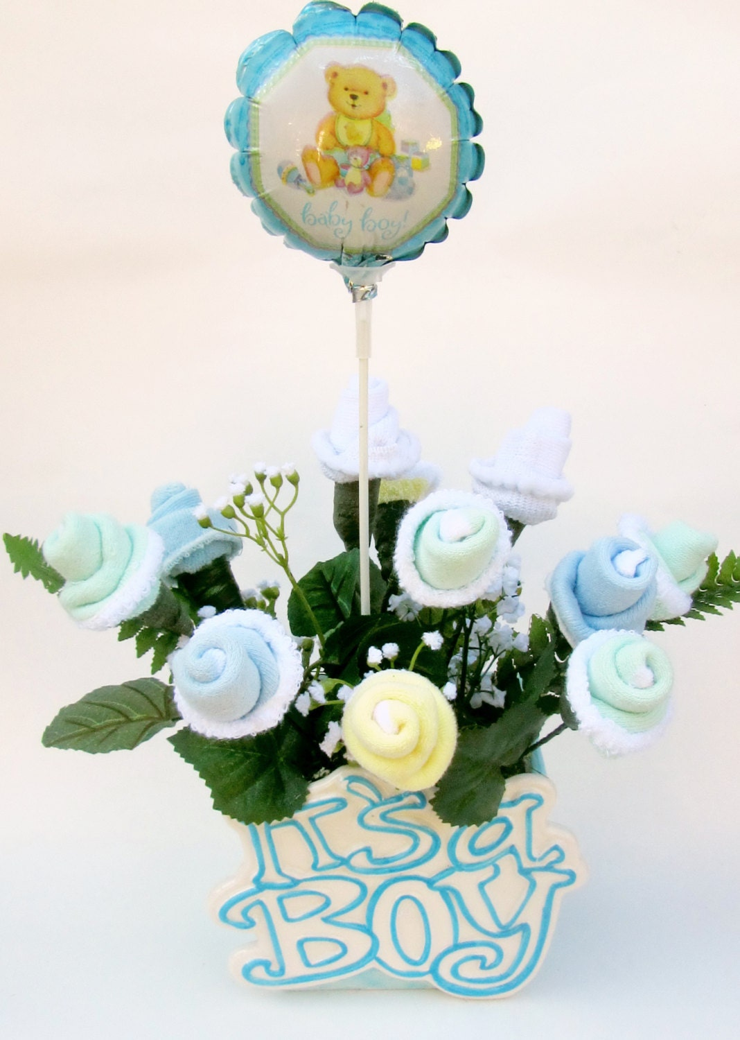 It 39 s a boy baby shower centerpiece baby boy by violetcreationz - Baby shower ideas for a boy centerpieces ...
