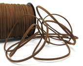 5 Yards 2mm Faux Suede Leather Cord Brown Faux Leather String Jewelry Findings Microfiber Craft Supplies