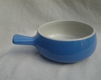 HTF Hall Sky Blue Soup Bowl with Handle, 643