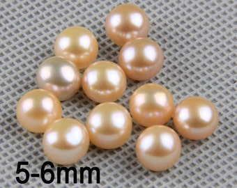 5pairs,button pearl,china freshwater pearls,pink pearl beads,real pearls for sale,pink pearl pairs,pink pearls on sale, pearl wholesaleLP003