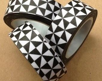 Geometric Black Triangle  Washi Tape -- Japanese Washi Tape -Deco tape-- 10M