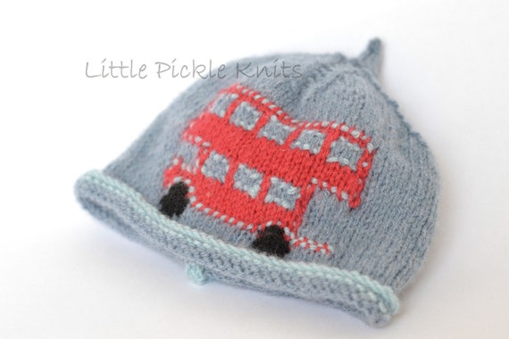 Newborn Beanie Knitting Pattern : BABY KNITTING PATTERNS beanie hat Little Bus newborn to 5