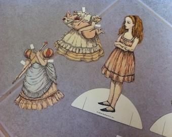 Charming Vintage Alice In Wonderland Paperdolls