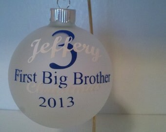First BIg Brother or Sister ornament