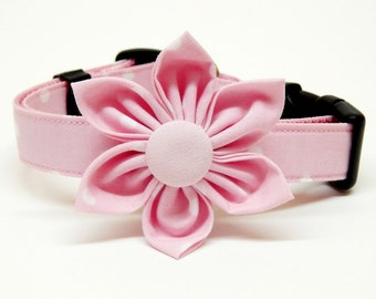 Dog Collar & Flower Combo - Pretty In Pink