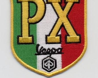 Vintage Style Vespa Scooter PX Patch MOD Badge