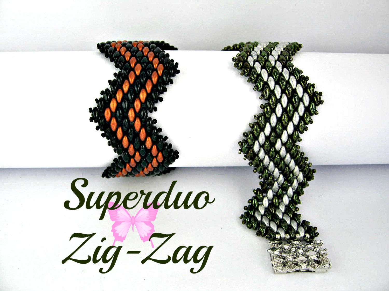 Zigzag beaded bracelet pattern
