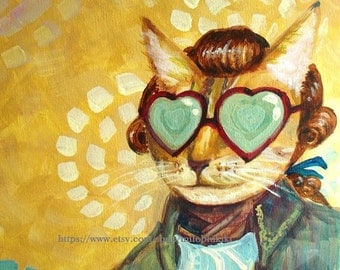 20% OFF - Milo,A gentleman Cat - Art Print 8 x10
