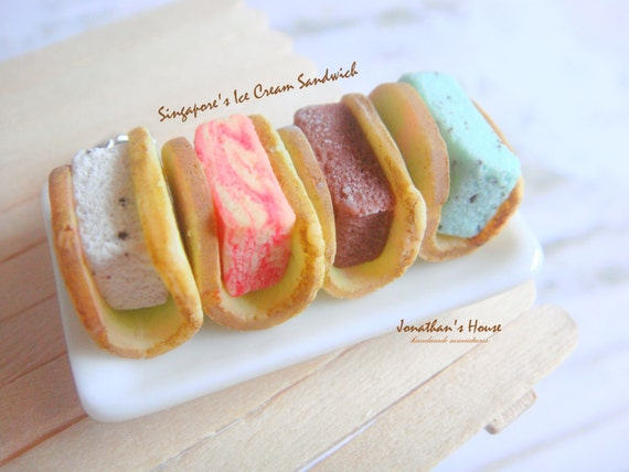 Ice Cream Sandwich Charm Miniature Food Jewelry Mini Food Fake Food Jewelry Foodie Gift