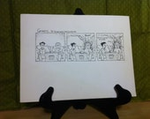 Goats.com Original Comic Strip Art: Flaming Couch Gag by Jonathan Rosenberg