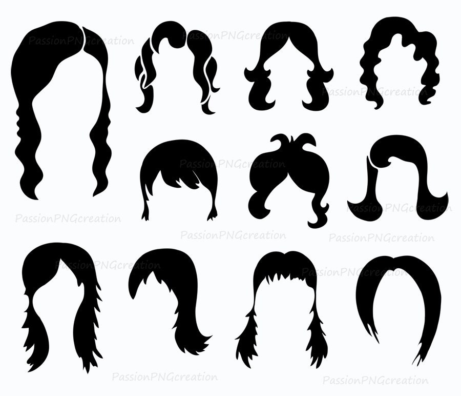 wig clipart black and whiteWig Clip Art Black And White