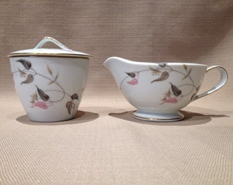 Noritake Creamer and Sugar ~ Pattern - Gracia ~ Made in Japan