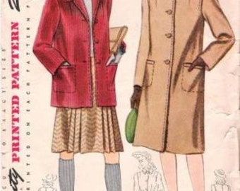 1940s Simplicity 4372 Coat Pattern 14/32