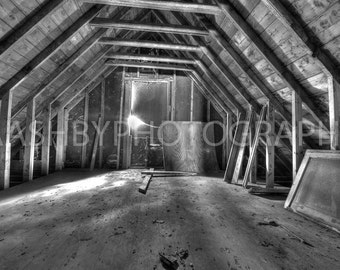Old Attic of Abandoned House