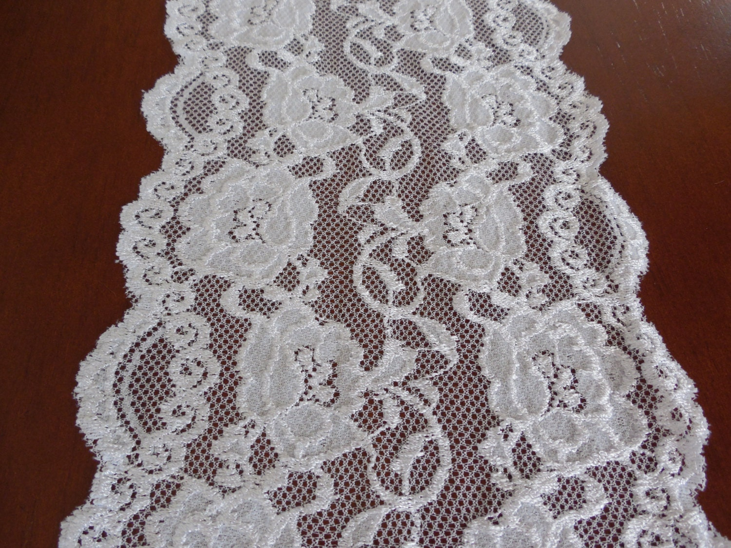 lace table runner wedding table runner white embroidered lace
