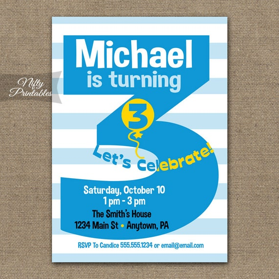 3Rd Birthday Invitations and get inspiration to create nice invitation ideas