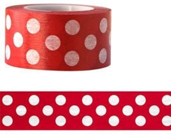 Washi Tape - red spotted pattern (15M x 25mm)