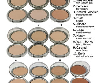 Pressed Mineral Foundation Powders 100% Vegan, Full Coverage, Setting Powder
