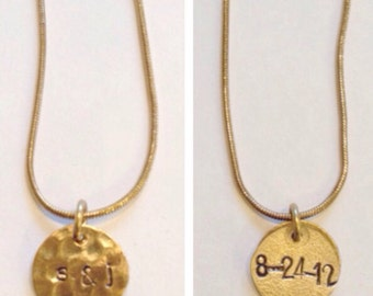 Anniversary and Initials Necklace
