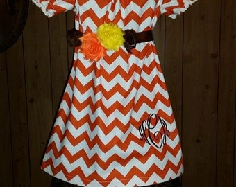 girls peasant dress chevron boutique baby