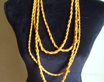 crochet Necklace + Bracelet