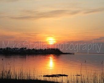 Sunrise, Barnegat Bay, Toms River, N.J., 8x10 Inch Print