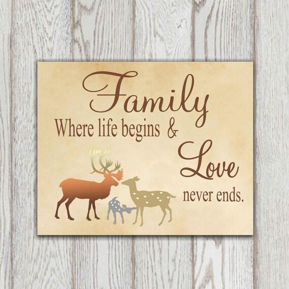 Download Family quote printable Tan home decor print 5x7, 8x10 ...