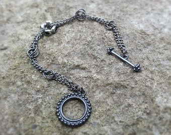 Bracelet - Hematite and Gunmetal Findings